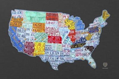Massive USA License Plate Map