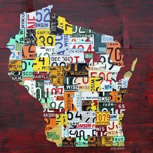 Wisconsin Counties License Plate Map by Design Turnpike