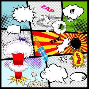 Retro Comic Book Speech Bubbles by Designer_things