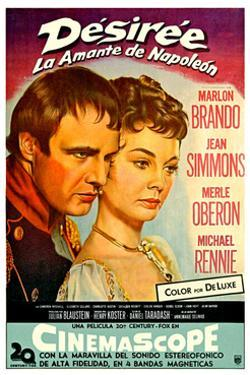 Desiree, Marlon Brando as Napoleon, Jean Simmons, (Spanish Poster Art), 1954