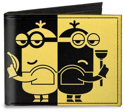 Despicable Me 3 - Spy v. Villain Minions Silhouette Canvas Wallet
