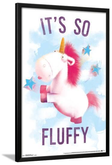 Despicable Me- Unicornicopia Fluffy--Lamina Framed Poster