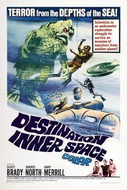 Destination Inner Space, US poster, Scott Brady, Sheree North, Gary Merrill, 1966