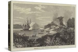 Destruction of a Pirates' Stronghold at Sulu by HMS Nassau