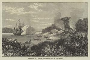 Destruction of a Pirates' Stronghold at Sulu by HMS Nassau