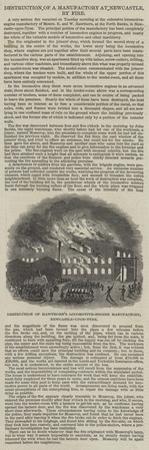 Destruction of Hawthorn's Locomotive-Engine Manufactory, Newcastle-Upon-Tyne