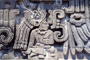 """Detail from the """"'Emple of the Feathered Serpent' at Xochicalco, Showing a Richly Attired…"""