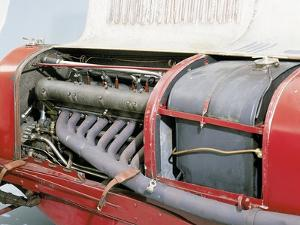 Detail of a 1928 Maserati Tipo 26B/M 8C 2800 Grand Prix Two Seater Racing Car