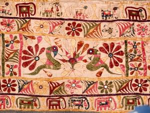 Detail of a Hanging Which Was Traditionally Made by a Mother for the Marriage of Her Daughter