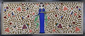 Detail of a Wiener Werkstatte Silver and Painted Casket