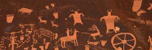 Detail of Ancient Petroglyphs Newspaper Rock Utah USA