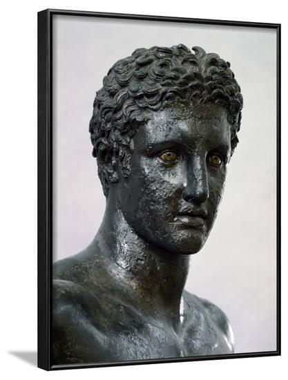 Detail of Antikythera Ephebe--Framed Photographic Print