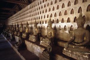 Detail of Buddha Housed Inside Temple of Wat Si Saket, Vientiane (Viangchan), 19th Century, Laos