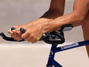 Detail of Cyclists Hands