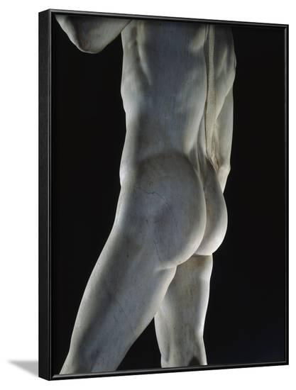 Detail of David by Michelangelo--Framed Photographic Print