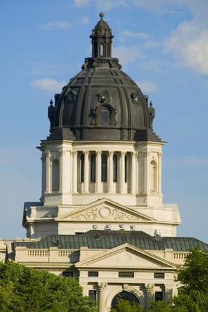 Detail of dome of South Dakota State Capitol and complex, Pierre, South Dakota, built between 19...