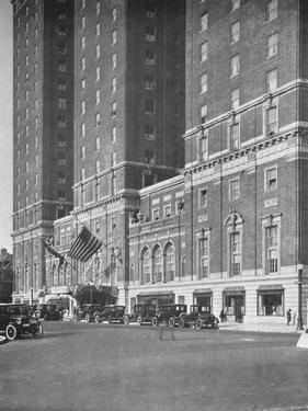 Detail of entrance front, Hotel Statler, Buffalo, New York, 1923