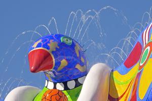 Detail of Lifesaver Fountain by Niki De Saint Phalle, Duisburg, Germany