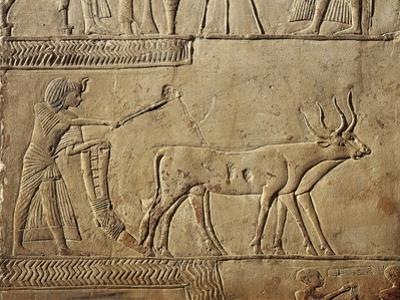 Detail of Pharaoh Ploughing in the Fields of Irau and Receiving the Harvest Offered by the Farmers
