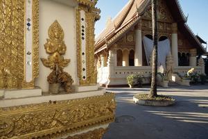 Detail of Spire of Buddhist Temple Wat Chan, Vientiane (Viangchan), Laos