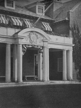 Detail of the clubhouse entrance porch, Essex County Club, Manchester, Massacusetts, 1925