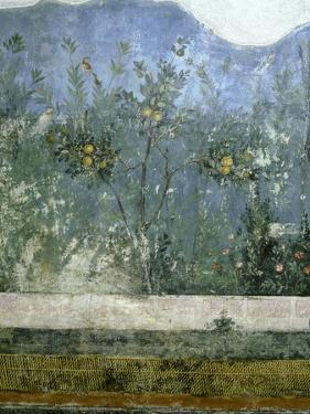Detail of the Fresco from the Main Hall of Livia's Villa at Prima Porta, Outside Rome