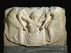 Detail of the Ludovisi Throne Depicting the Birth of Aphrodite