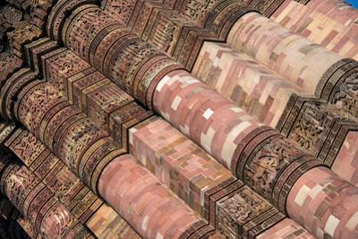 Detail of the Qutub Minar, New Delhi, India