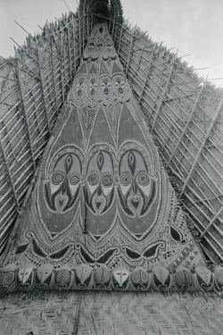 Detail of Traditional Ancestral Worship House in Papua New Guinea