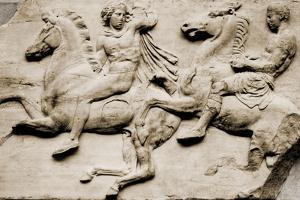 Detail of Two Galloping Riders from the West Frieze of the Parthenon