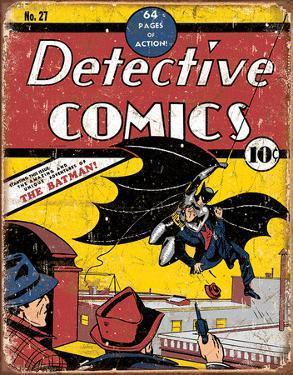 Detective Comics Batman No. 27 Tin Sign