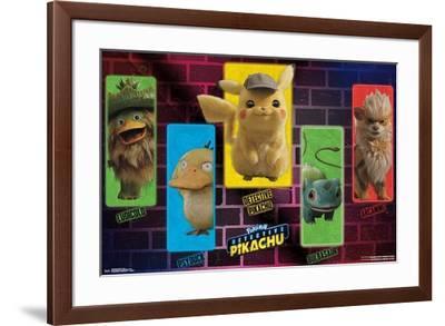 Detective Pikachu - Group--Framed Poster