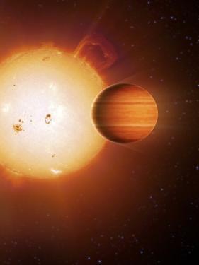 Alien Gas Giant Planet, Artwork by Detlev Van Ravenswaay