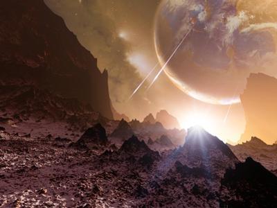 Alien Landscape, Artwork by Detlev Van Ravenswaay