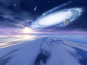 Alien Night Sky by Detlev Van Ravenswaay