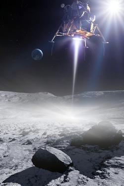 Apollo 11 Moon Landing, Artwork by Detlev Van Ravenswaay