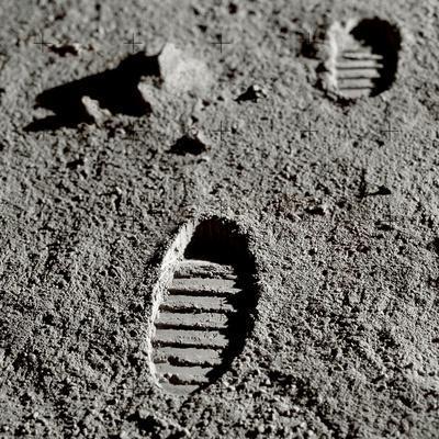 Astronaut Footprints on the Moon