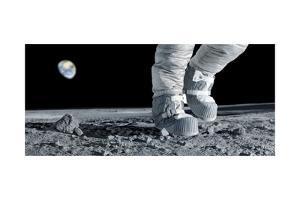 Astronaut Walking on the Moon by Detlev Van Ravenswaay