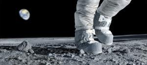 Astronaut Walking on the Moon by Detlev Van Ravenswaay