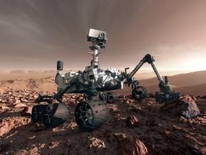Curiosity Rover, Artwork by Detlev Van Ravenswaay