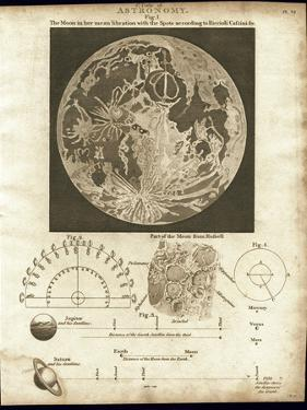 Early Map of the Moon, 1810 by Detlev Van Ravenswaay