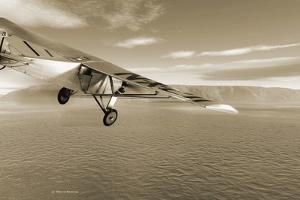 First Solo Transatlantic Flight, 1927 by Detlev Van Ravenswaay