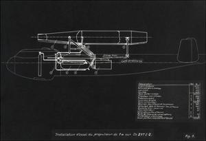 German WWII Ramjet Bomber Blueprint by Detlev Van Ravenswaay