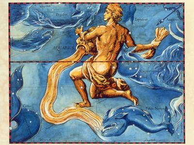Historical Artwork of the Constellation Aquarius by Detlev Van Ravenswaay