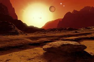 Landscape of An Alien World, Artwork by Detlev Van Ravenswaay
