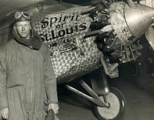 Lindbergh with His Airplane, 1928 by Detlev Van Ravenswaay