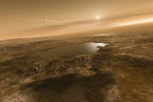 Liquid Hydrocarbons on Titan, Artwork by Detlev Van Ravenswaay
