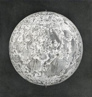 Lunar Map of 1854 by Detlev Van Ravenswaay