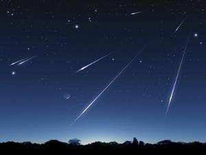 Meteor Shower, Artwork by Detlev Van Ravenswaay