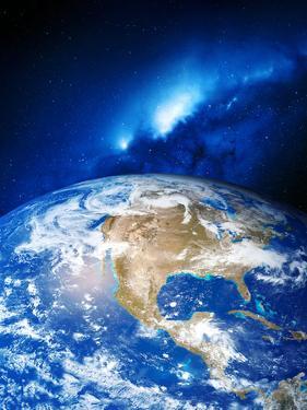 North America And the Milky Way by Detlev Van Ravenswaay